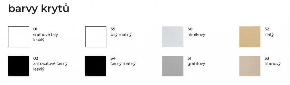 Barvy krytů vypínačů DECENTE